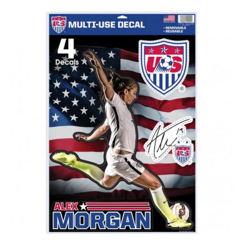 Shop Alex Morgan #13 Womens USA Soccer Wincraft Set of 4 Multi Use Decals Stickers