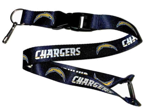Shop San Diego Chargers Aminco Durable Material Buckle Lock Navy Lanyard