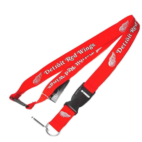 Shop Detroit Red Wings Logo Aminco Breakaway Buckle Lock Red Lanyard
