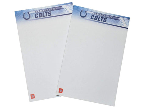 "Shop Indianapolis Colts Turner Licensing White 2 Pack Office Note Pad 8"" x 5"""