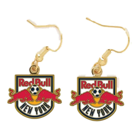 Shop New York Red Bulls MLS WinCraft Sports Nickel Free Dangle Earrings
