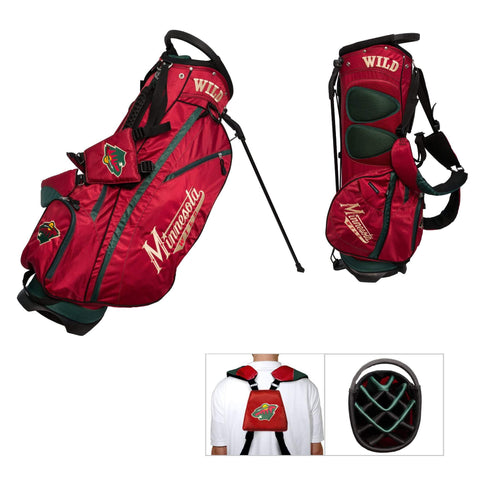 Minnesota Wild Team Golf Fairway Lightweight 14-Way Top Golf Club Stand Bag
