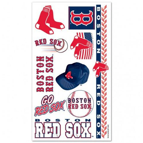 Shop Boston Red Sox WinCraft Gameday Red Navy Temporary Tattoos