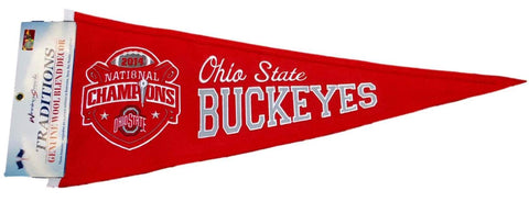 Shop Ohio State Buckeyes 2015 Football National Champions Wool Traditions Pennant