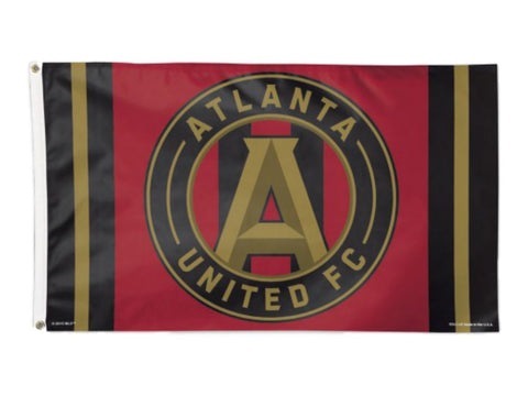 Atlanta United FC MLS Wincraft Team Colors Indoor & Outdoor Deluxe Flag (3'x5')