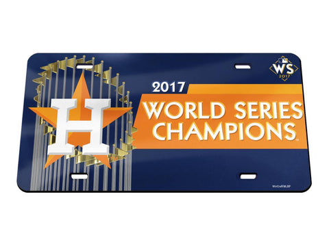 Houston Astros 2017 World Series Champions Crystal Mirror License Plate Cover