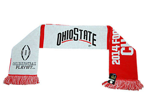 "Shop Ohio State Buckeyes 2014 Football National Champions Red Knit Scarf 8"" x 60"""