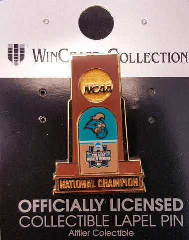 Coastal Carolina Chanticleers 2016 NCAA Baseball CWS Champions Trophy Lapel Pin
