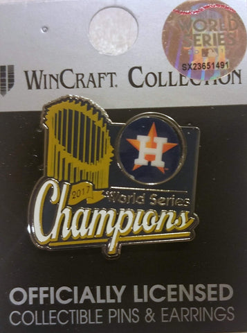 Houston Astros 2017 World Series Champions MLB Trophy Collectors Metal Lapel Pin