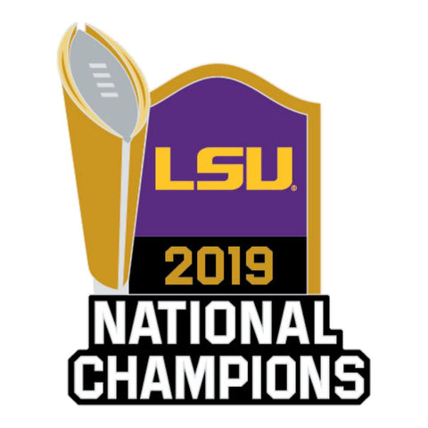 LSU Tigers 2019-2020 CFP National Champions WinCraft Trophy Lapel Pin - Sporting Up