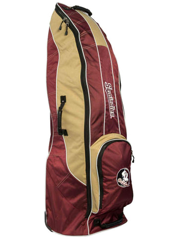 Florida State Seminoles Team Golf Red Golf Clubs Wheeled Luggage Travel Bag