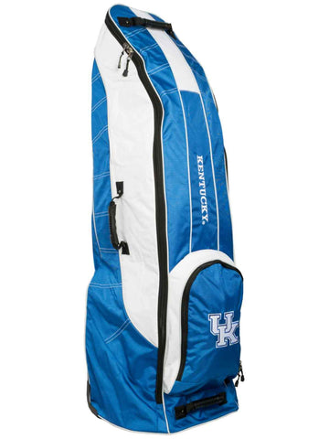 Kentucky Wildcats Team Golf Blue Golf Clubs Wheeled Luggage Travel Bag