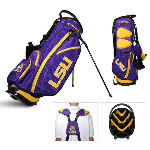 LSU Tigers Team Golf Fairway Lightweight 14-Way Top Golf Club Stand Bag