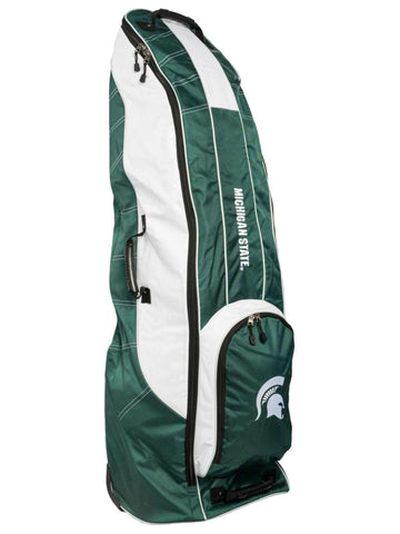 Michigan State Spartans Team Golf Green Golf Clubs Wheeled Luggage Travel Bag