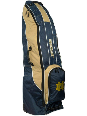 Notre Dame Fighting Irish Team Golf Navy Golf Clubs Wheeled Luggage Travel Bag