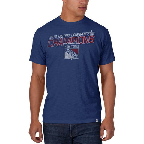 Shop New York Rangers 47 Brand 2014 Eastern Conference Champions Royal Blue T-Shirt - Sporting Up