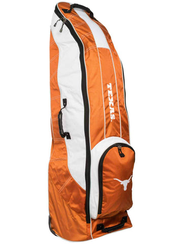 Texas Longhorns Team Golf Orange Golf Clubs Wheeled Luggage Travel Bag