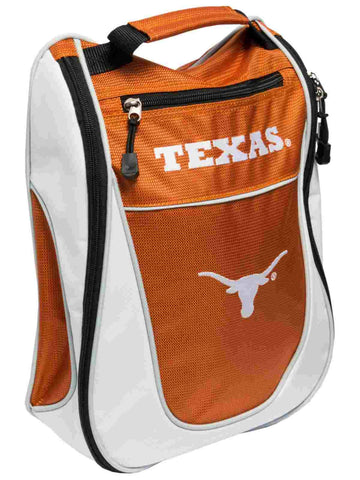 Texas Longhorns Team Golf Orange White Zippered Carry-On Golf Shoes Travel Bag