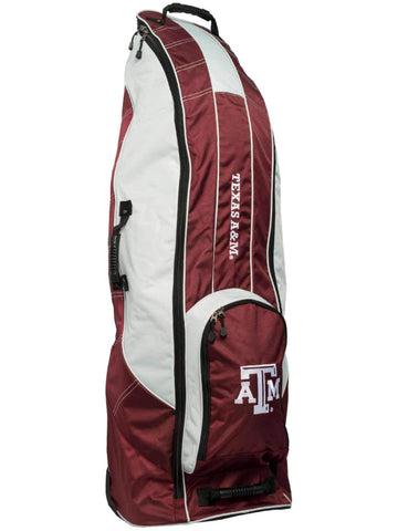 Texas A&M Aggies Team Golf Red Golf Clubs Wheeled Luggage Travel Bag