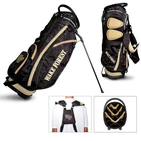 Wake Forest Demon Deacons Team Golf Fairway Light 14-Way Top Golf Club Stand Bag