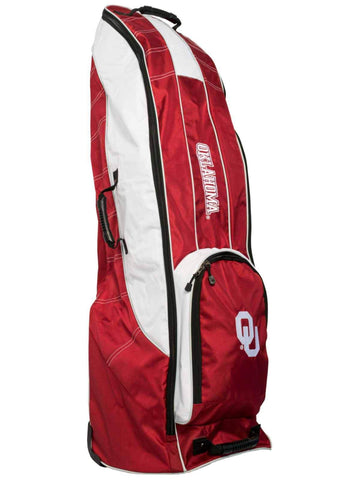 Oklahoma Sooners Team Golf Red Golf Clubs Wheeled Luggage Travel Bag