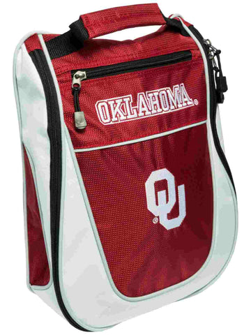 Oklahoma Sooners Team Golf Red White Zippered Carry-On Golf Shoes Travel Bag