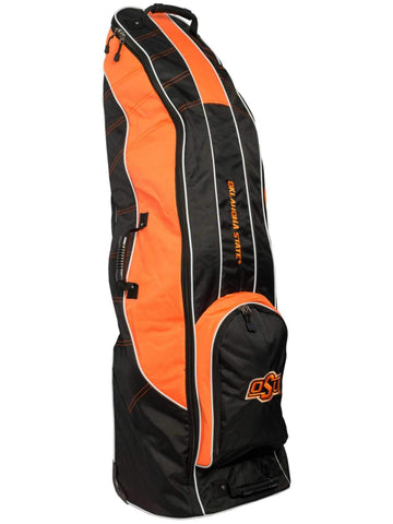 Oklahoma State Cowboys Team Golf Black Golf Clubs Wheeled Luggage Travel Bag