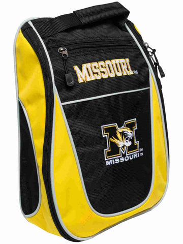 Missouri Tigers Team Golf Black Yellow Zippered Carry-On Golf Shoes Travel Bag