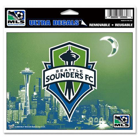 Shop Seattle Sounders FC MLS WinCraft Sports Removable Ultra Decal / Bumper Sticker