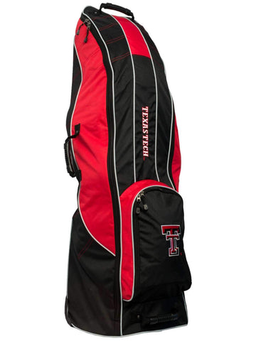Texas Tech Red Raiders Team Golf Black Golf Clubs Wheeled Luggage Travel Bag