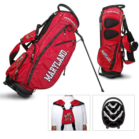 Maryland Terrapins Team Golf Fairway Lightweight 14-Way Top Golf Club Stand Bag