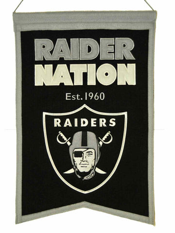 "Oakland Raiders Winning Streak ""Raider Nation"" Franchise Wool Banner (14""x22"")"