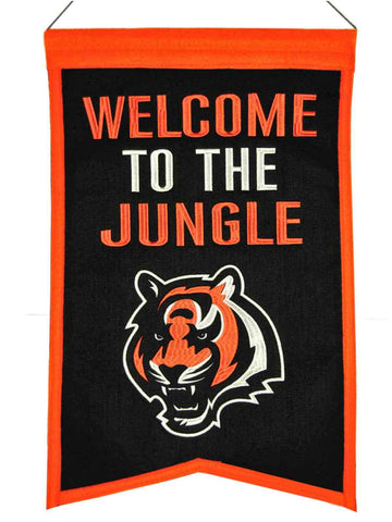 "Shop Cincinnati Bengals WS ""Welcome to the Jungle"" Franchise Wool Banner (14""x22"")"