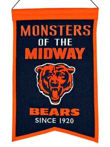 "Chicago Bears Winning Streak ""Monsters of the Midway"" Franchise Banner (14""x22"")"