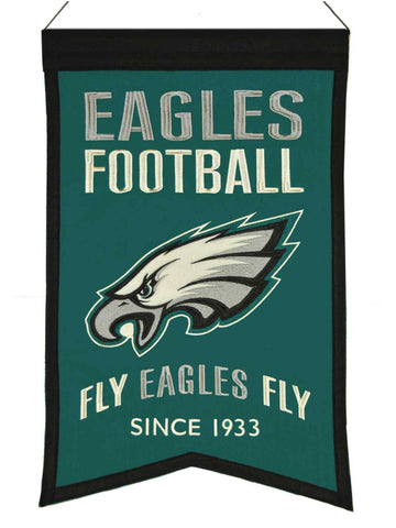 "Philadelphia Eagles Winning Streak ""Fly Eagles Fly"" Franchise Banner (14""x22"")"