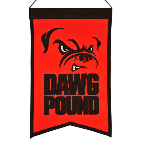 "Shop Cleveland Browns Winning Streak ""Dawg Pound"" Franchise Wool Banner (14""x22"")"