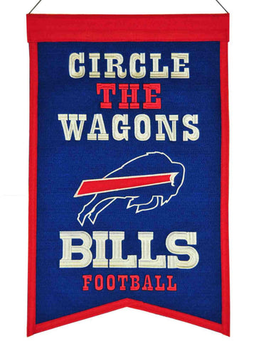 "Buffalo Bills Winning Streak ""Circle the Wagons"" Franchise Wool Banner (14""x22"")"
