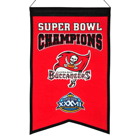 "Tampa Bay Buccaneers NFL Super Bowl Champions Wool Banner (14"" x 22"")"
