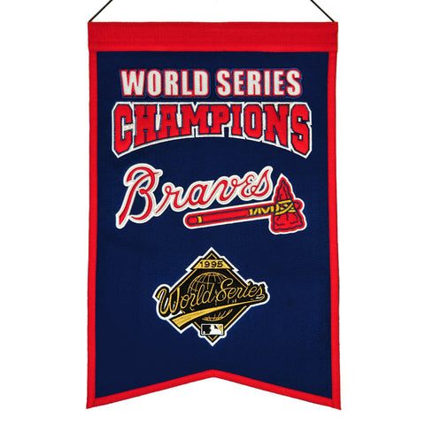 "Shop Atlanta Braves MLB World Series Champions Wool Banner (14"" x 22"")"