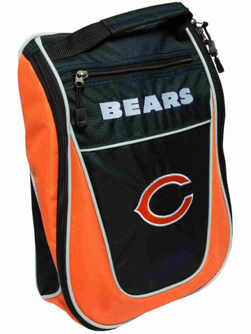 Chicago Bears Team Golf Navy Orange Zippered Carry-On Golf Shoes Travel Bag