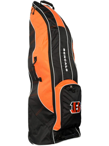 Shop Cincinnati Bengals Team Golf Black Golf Clubs Wheeled Luggage Travel Bag