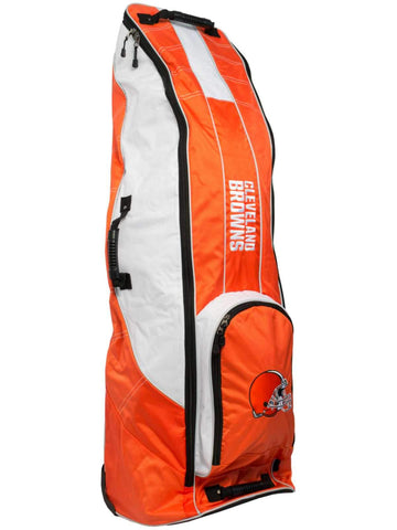 Cleveland Browns Team Golf Orange Golf Clubs Wheeled Luggage Travel Bag