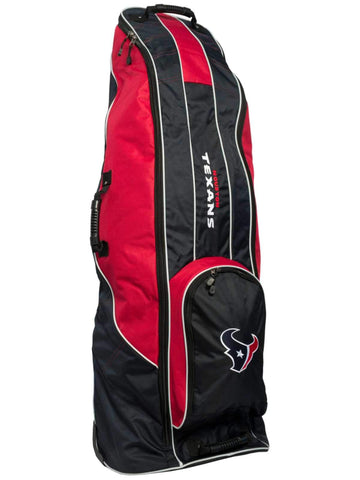 Houston Texans Team Golf Navy Golf Clubs Wheeled Luggage Travel Bag