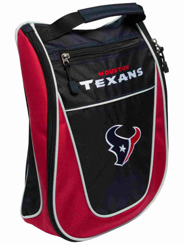 Houston Texans Team Golf Navy Red Zippered Carry-On Golf Shoes Travel Bag
