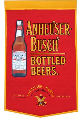 "Shop Anheuser-Busch Winning Streak Red ""EST. 1852"" Bottled Beers Banner (24"" x 36"")"