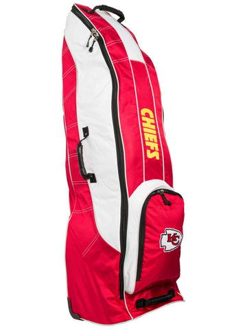 Kansas City Chiefs Team Golf Red Golf Clubs Wheeled Luggage Travel Bag