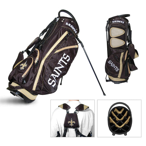 New Orleans Saints Team Golf Fairway Lightweight 14-Way Top Golf Club Stand Bag
