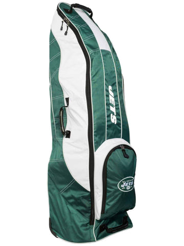 New York Jets Team Golf Green Golf Clubs Wheeled Luggage Travel Bag