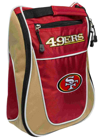 San Francisco 49ers Team Golf Red Gold Zippered Carry-On Golf Shoes Travel Bag