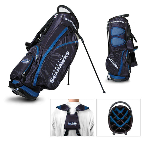 Seattle Seahawks Team Golf Fairway Lightweight 14-Way Top Golf Club Stand Bag